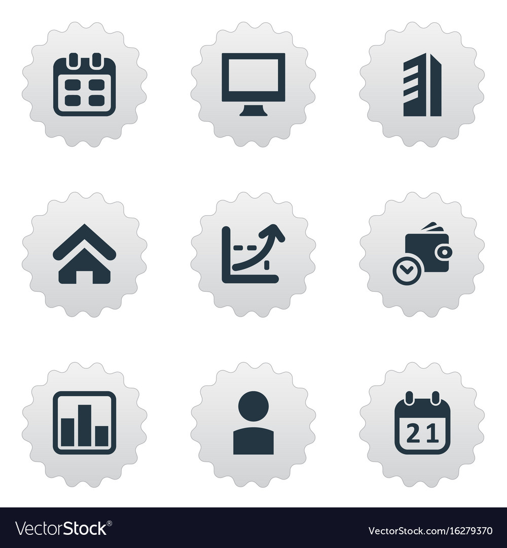 Set of simple entrepreneurship vector image