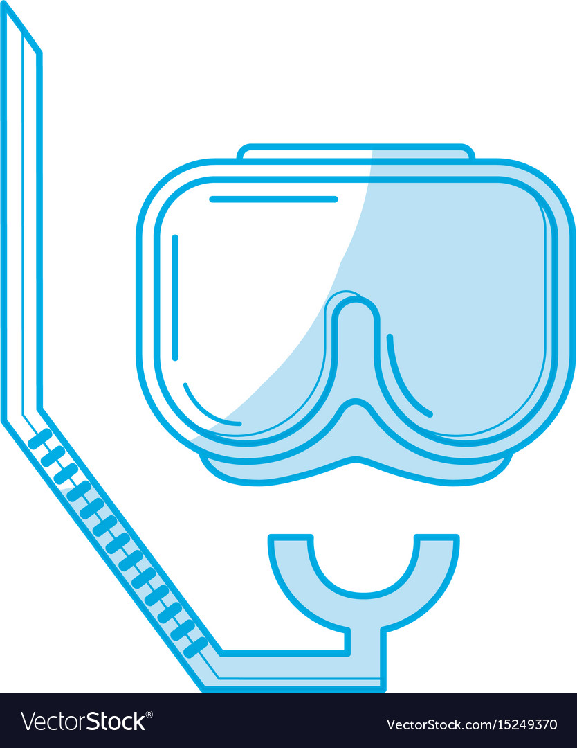 Silhouette diving mask to be underwater adventure