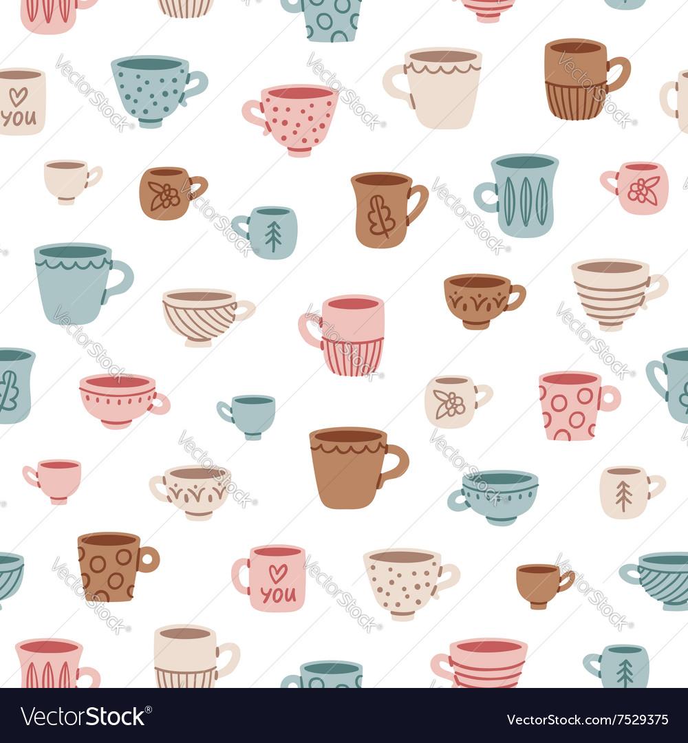 Cute mugs pattern