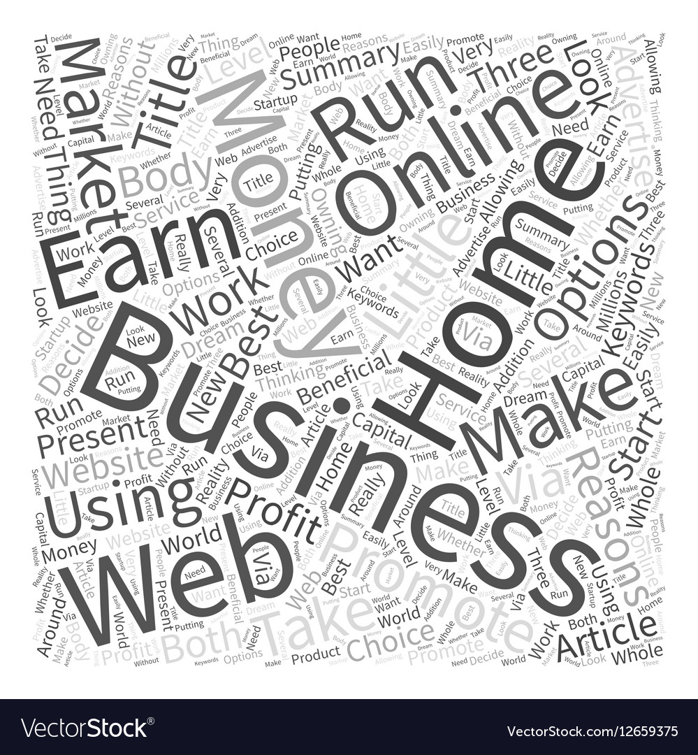 Earn Money Online With Your Home Business Word