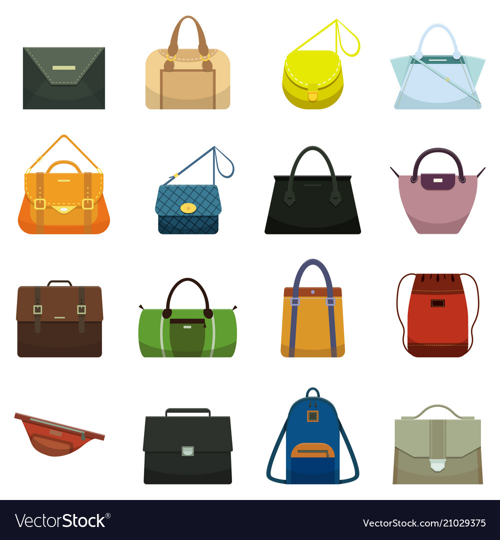 Female leather handbags and male accessory