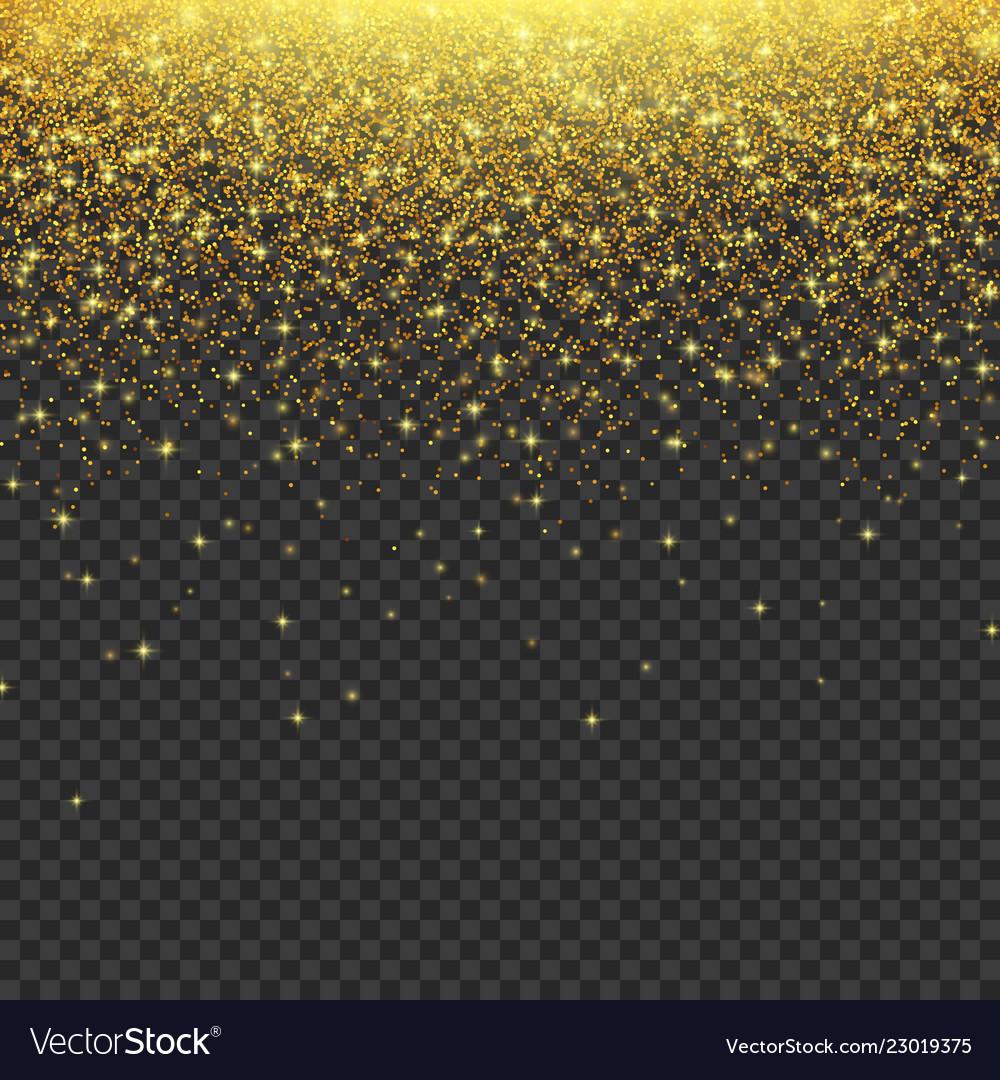 Gold glitter stardust background