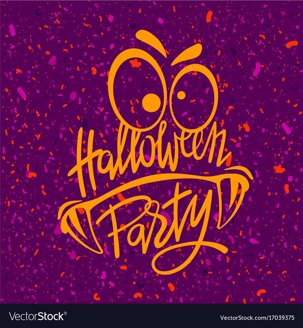 Halloween night party monster vector image