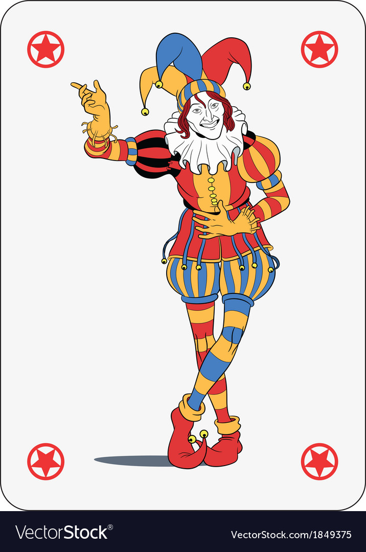 joker playing card royalty free vector image vectorstock vector playing cards download vector playing cards deck