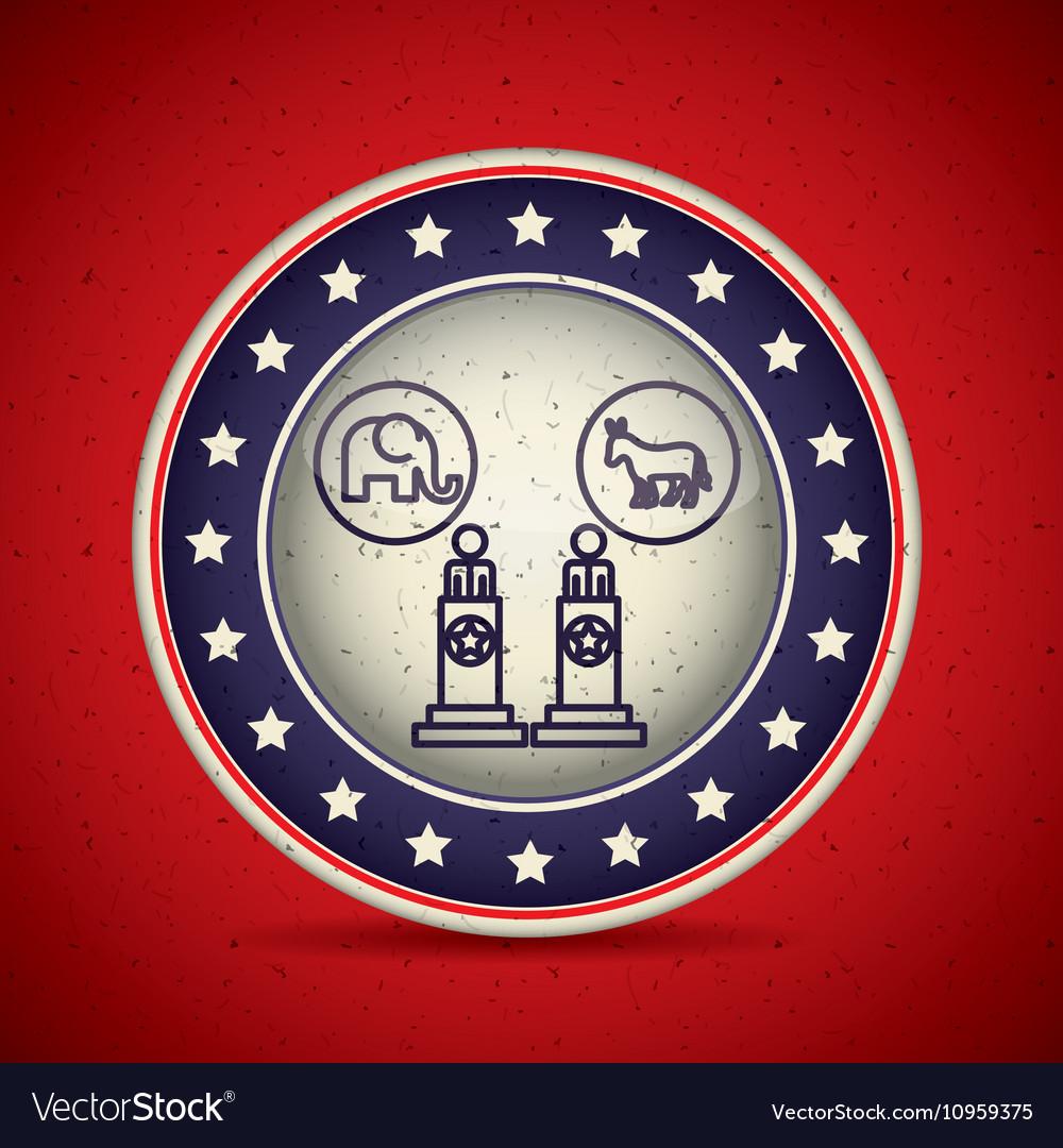 Presidents inside button design