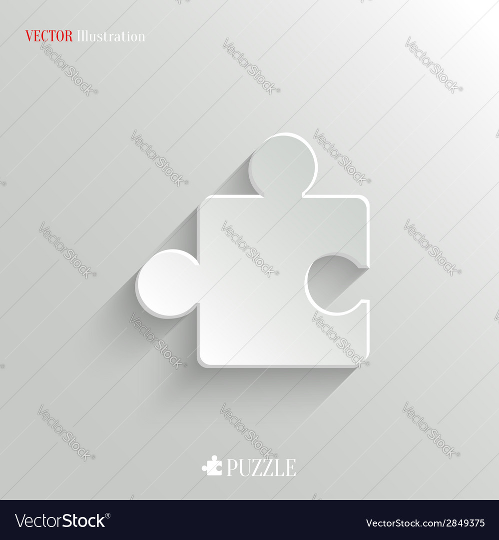 Puzzle icon - white app button