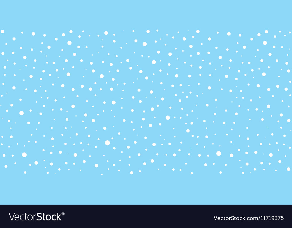 Snow Falling Seamless Pattern Christmas Background vector image