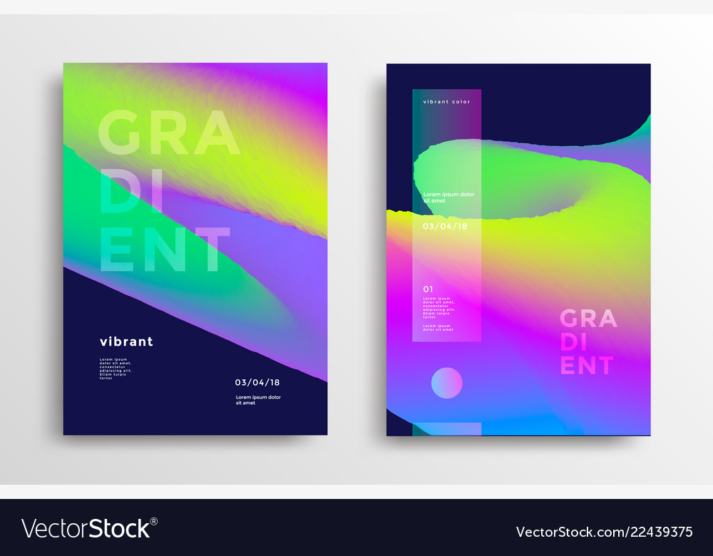 Trendy covers with gradient shapes