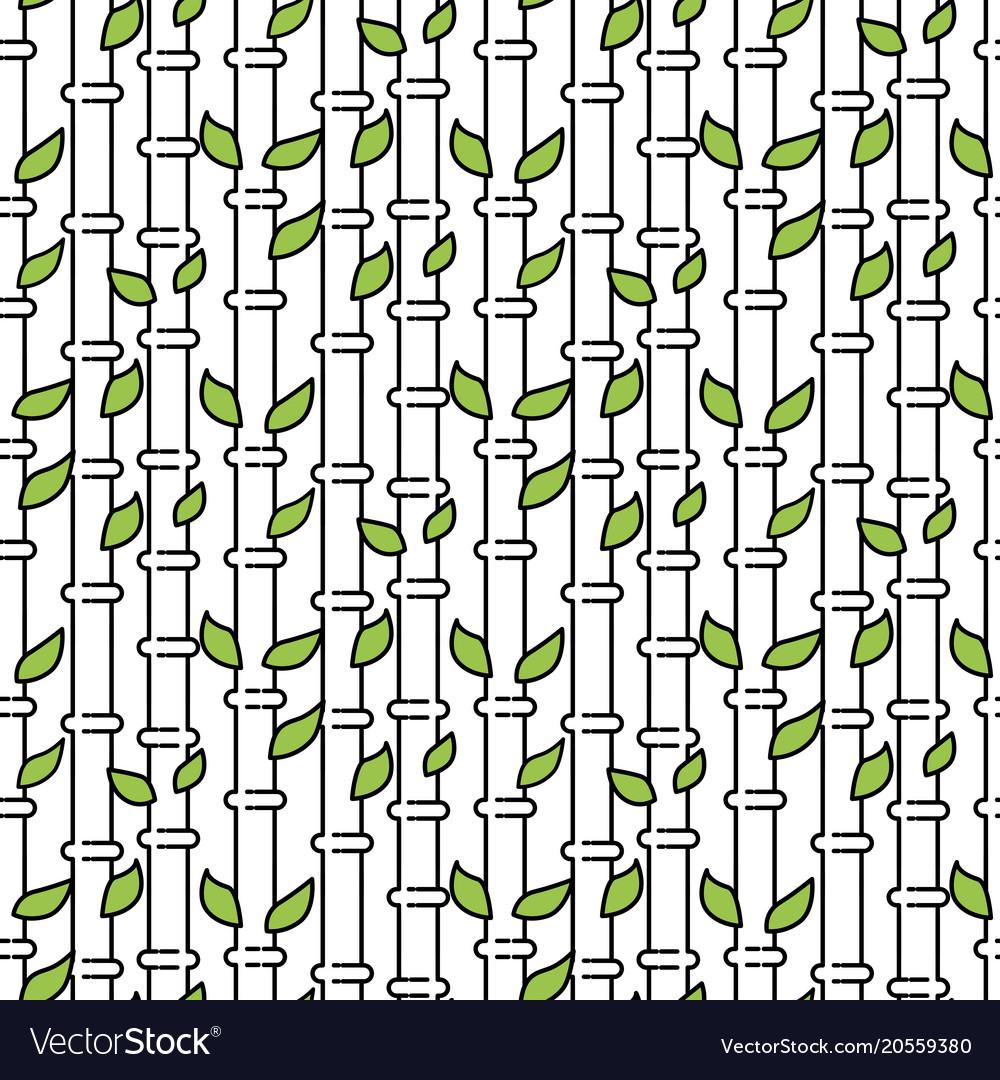 Bamboo tree stem seamless pattern vector image
