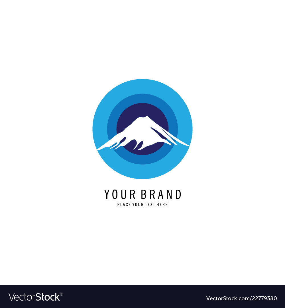 Blue mount symbol logo