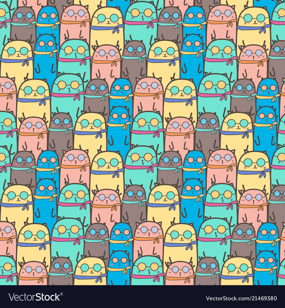 Cool cats pattern background