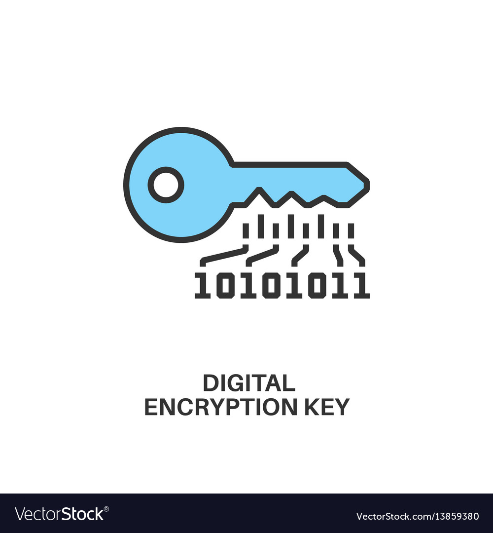Digital encryption key icon