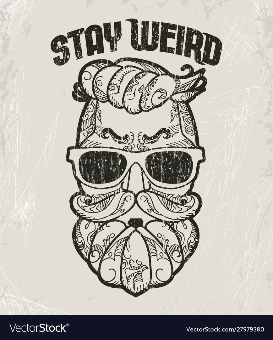 Hipster t-shirt design retro style grunge print