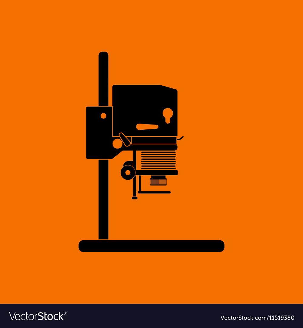 Icon of photo enlarger vector image