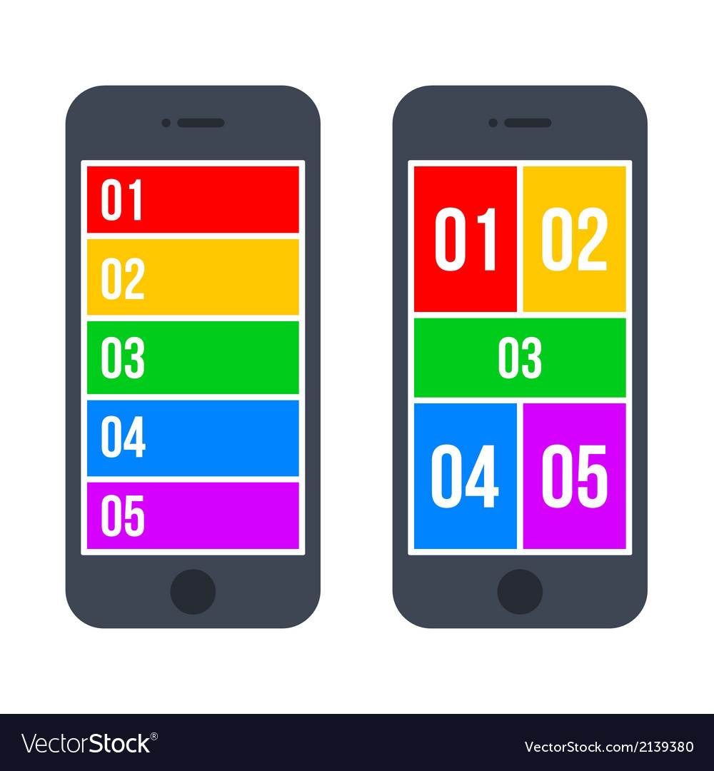 Infographic Smartphone Concept in Flat Style