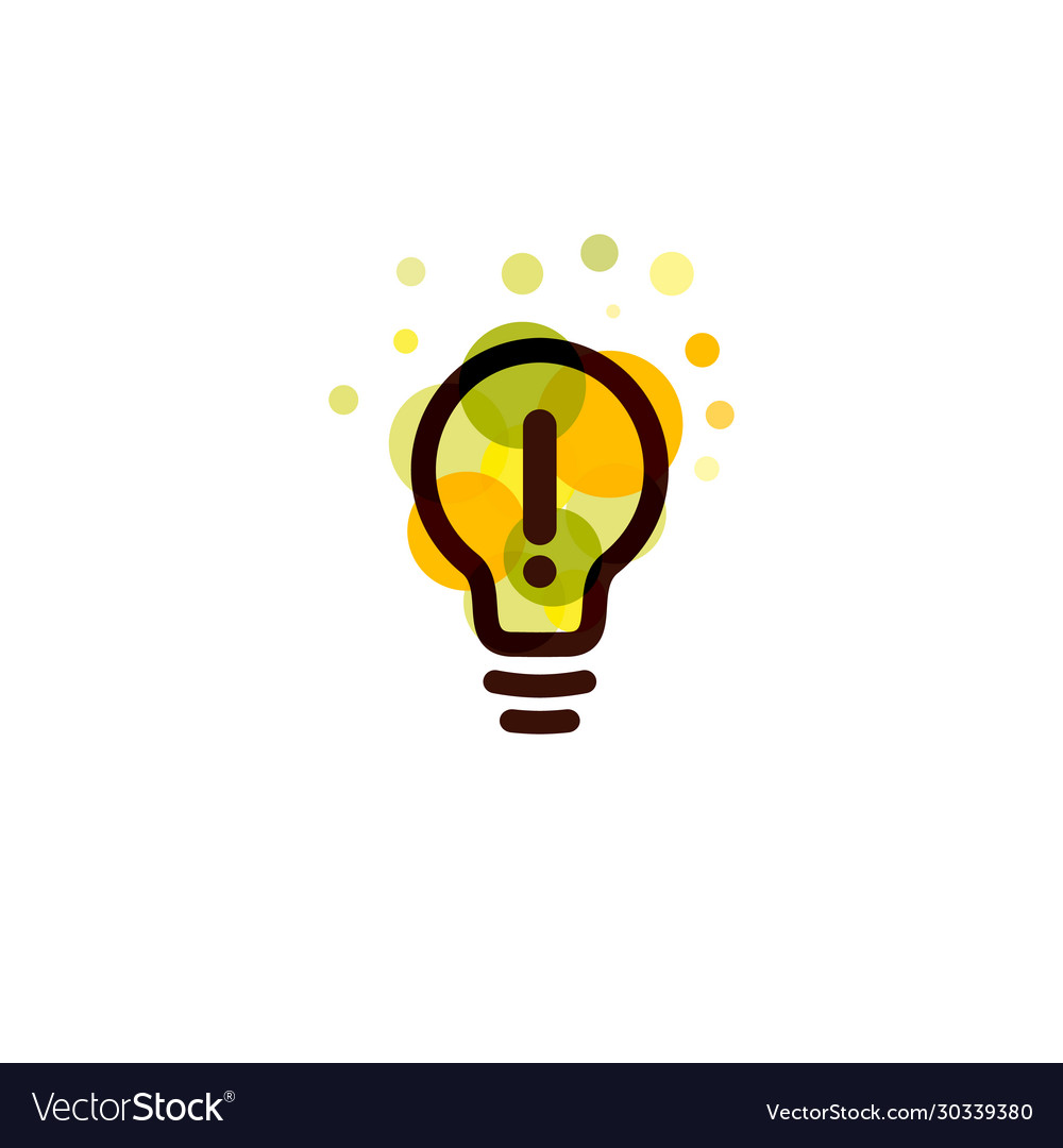 Lightbulb icon creative idea logo design concept
