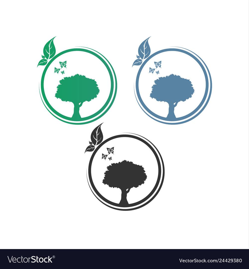 Logo circle tree logo design