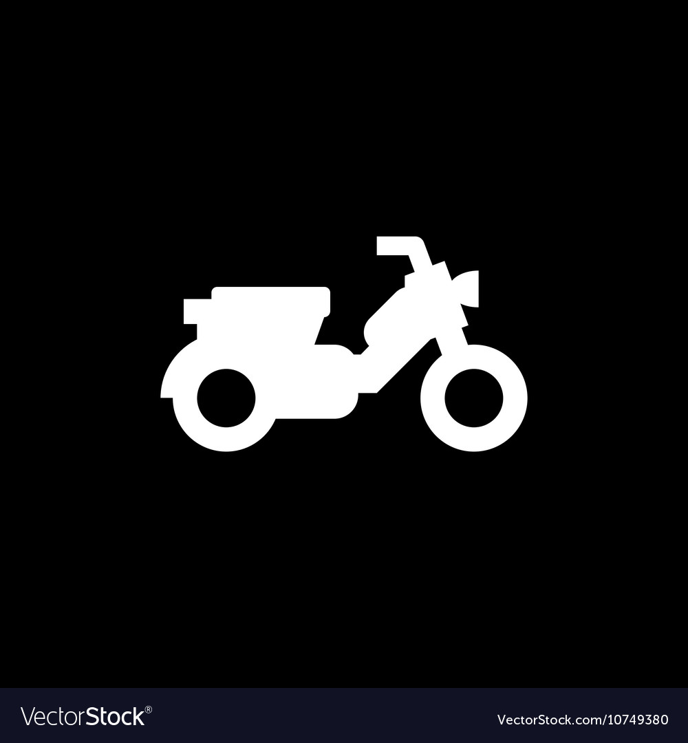 Modern scooter icon