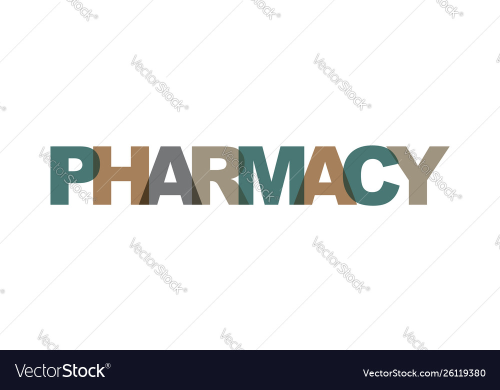 Pharmacy business card text modern lettering