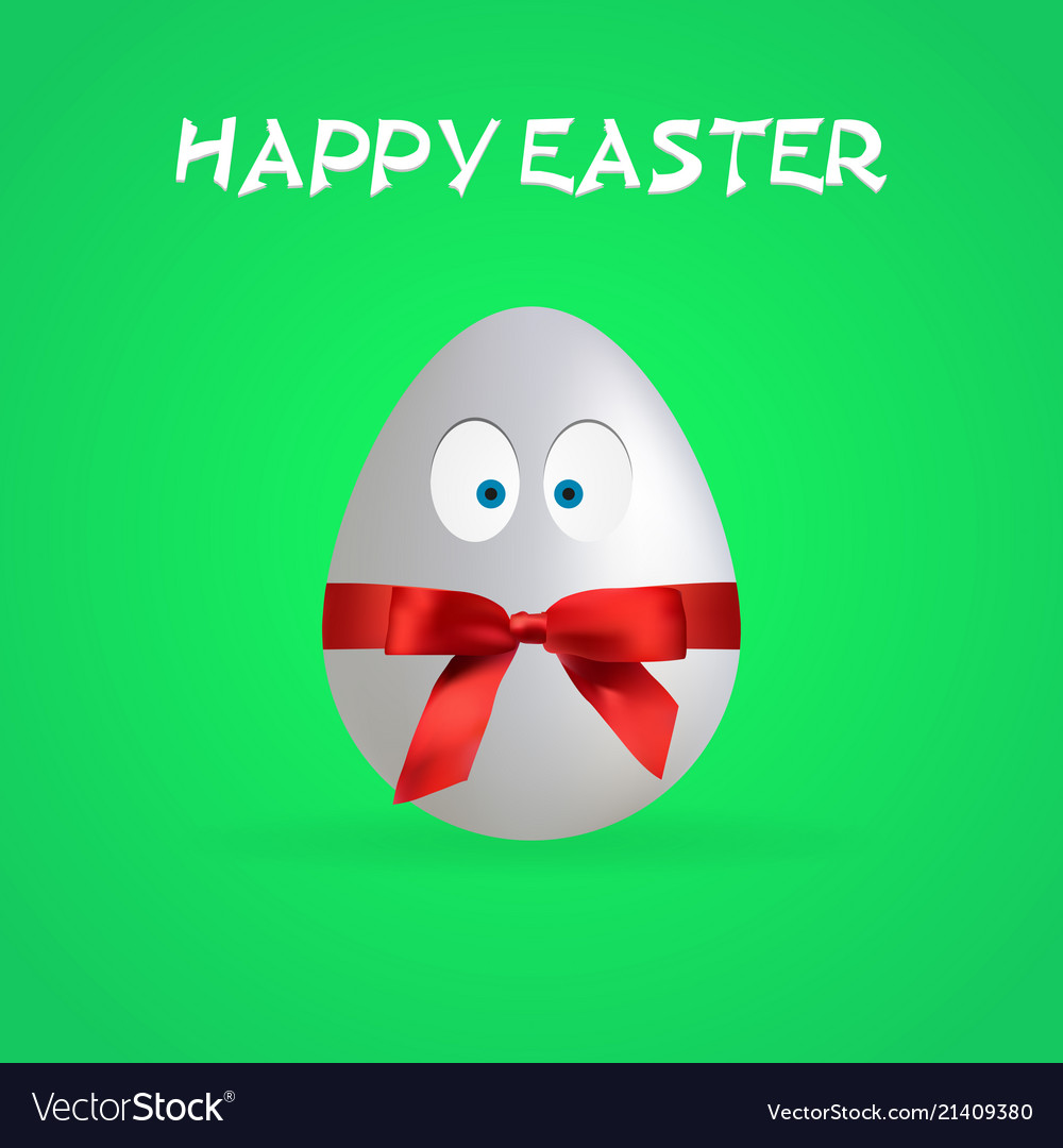 Simple happy easter egg poster eps file