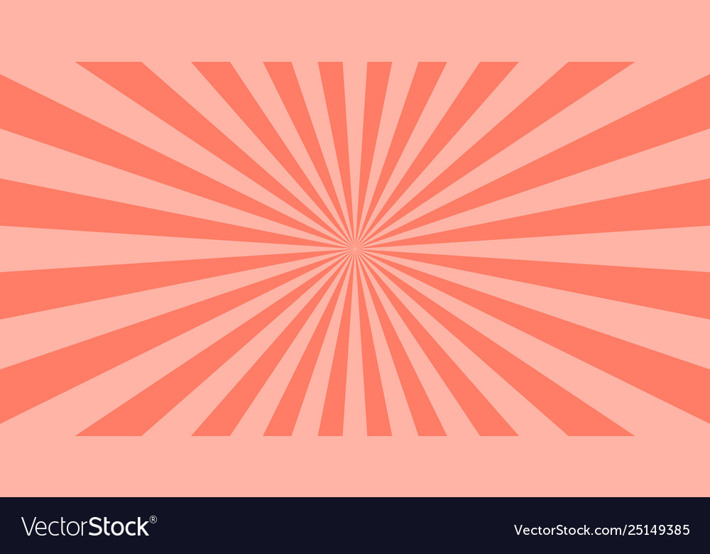 Abstract coral sun rays background summer sunny