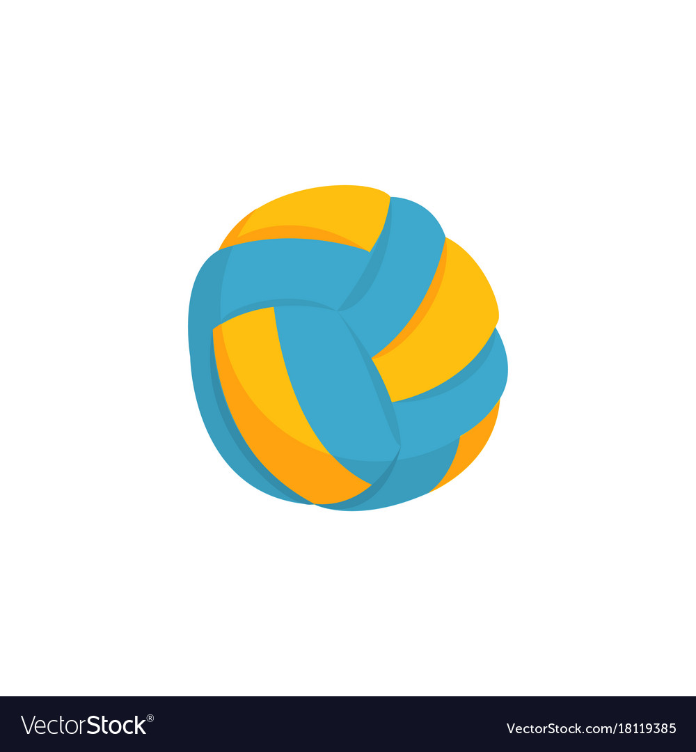 Colorful beach volleyball ball icon isolated on