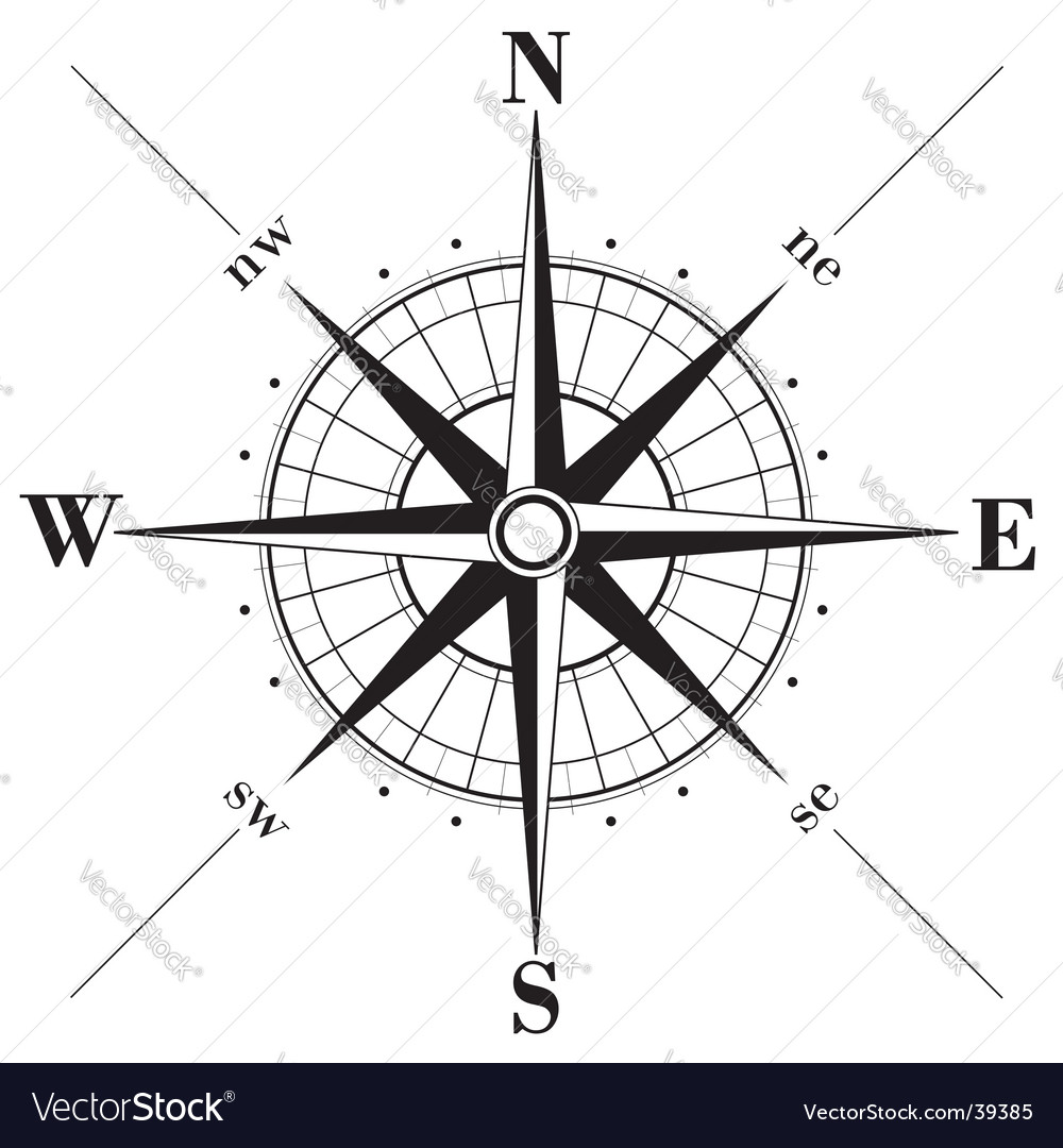 Compass Rose Royalty Free Vector Image Vectorstock
