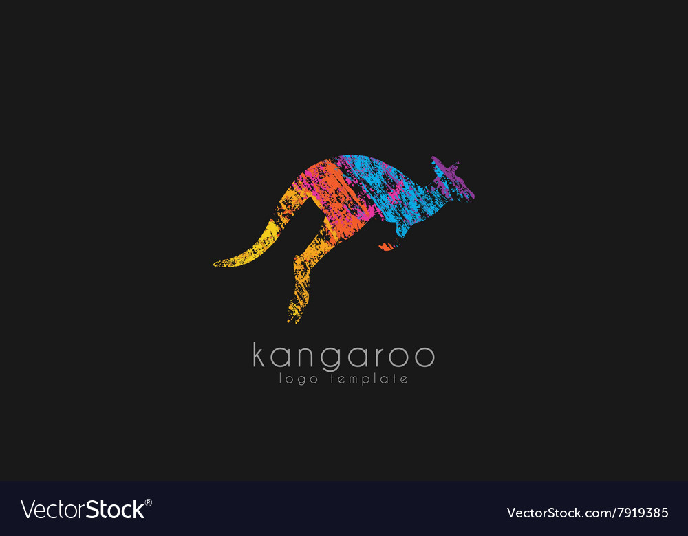 Kangaroo logo Australia logo design Animal logo vector image