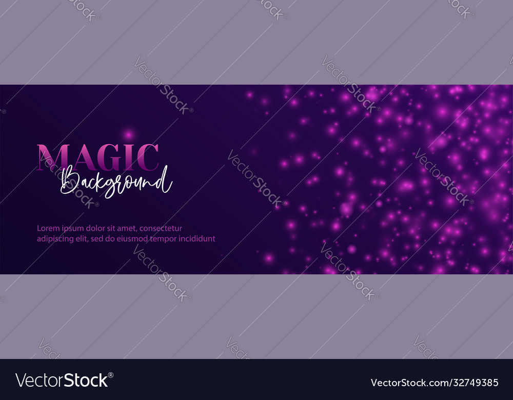 Magic abstract long banner shiny glitter