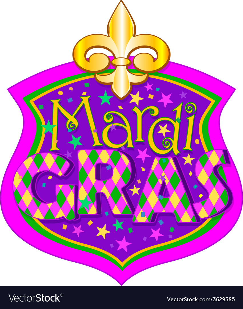 Mardi Gras blazon vector image