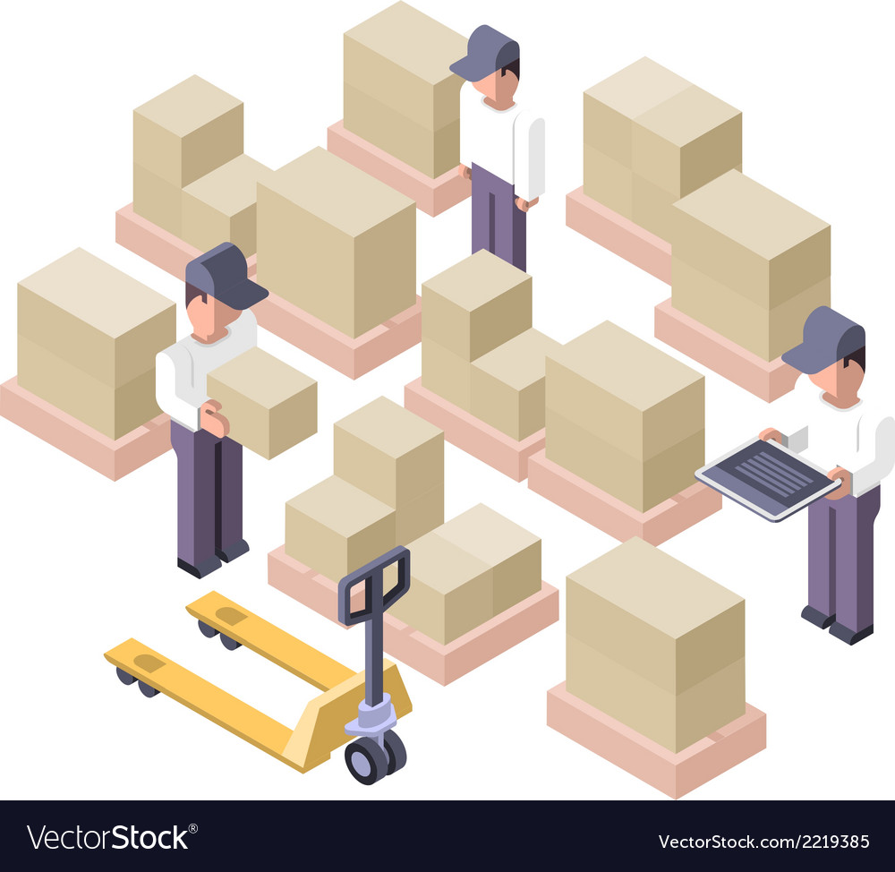 Warehouse Working Area Distribution Center vector image
