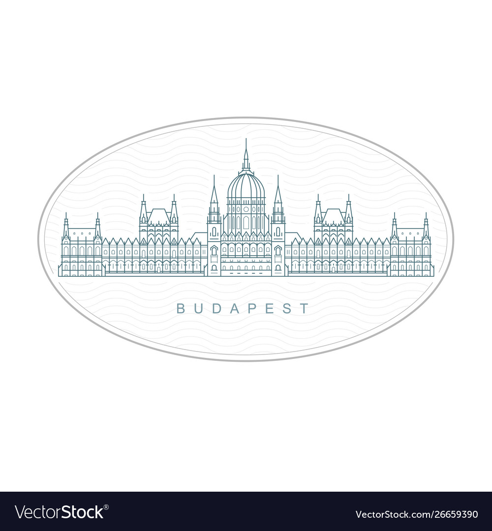 Budapest stamp - hungarian parliament building