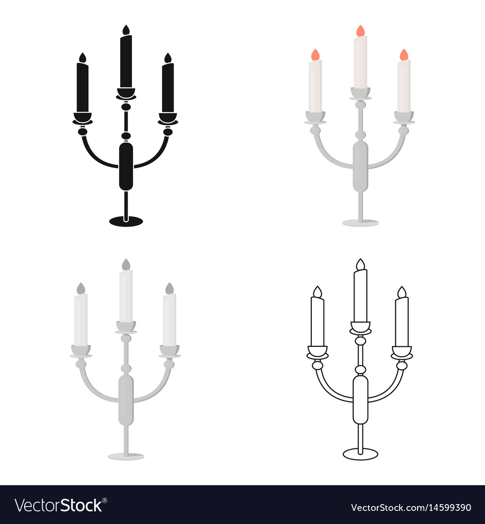 Candlestick lamp icon of for