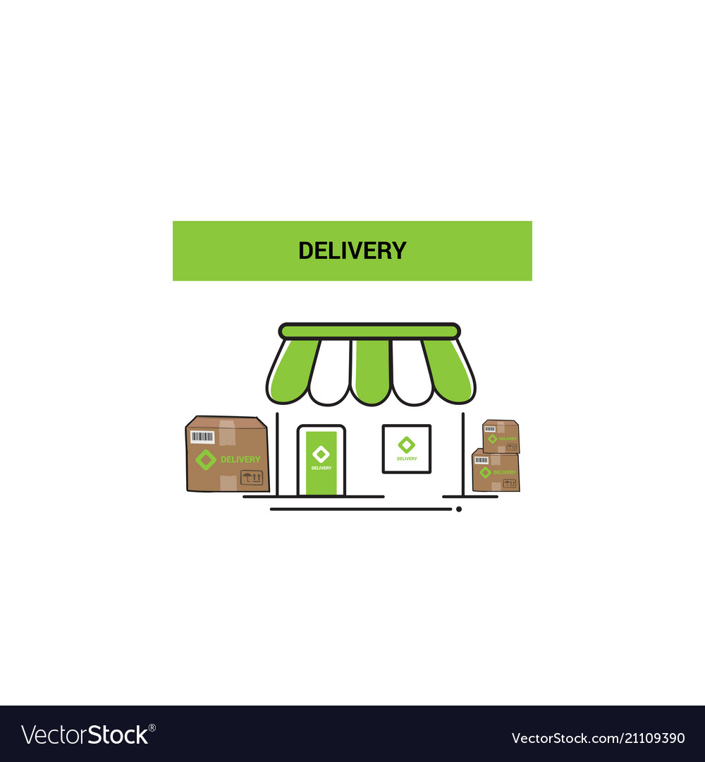 Delivery logo icon concept