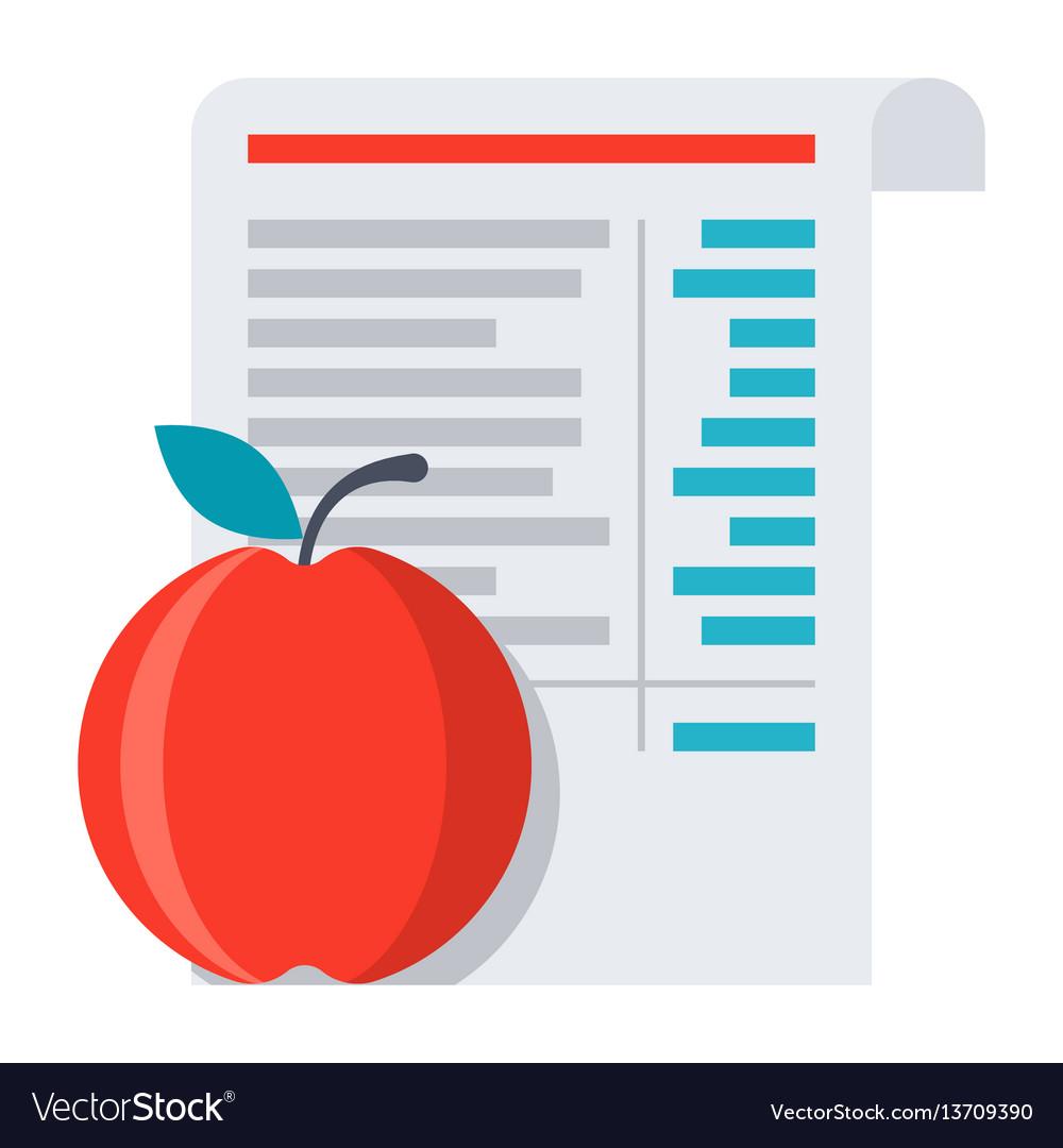 Diet menu icon vector image