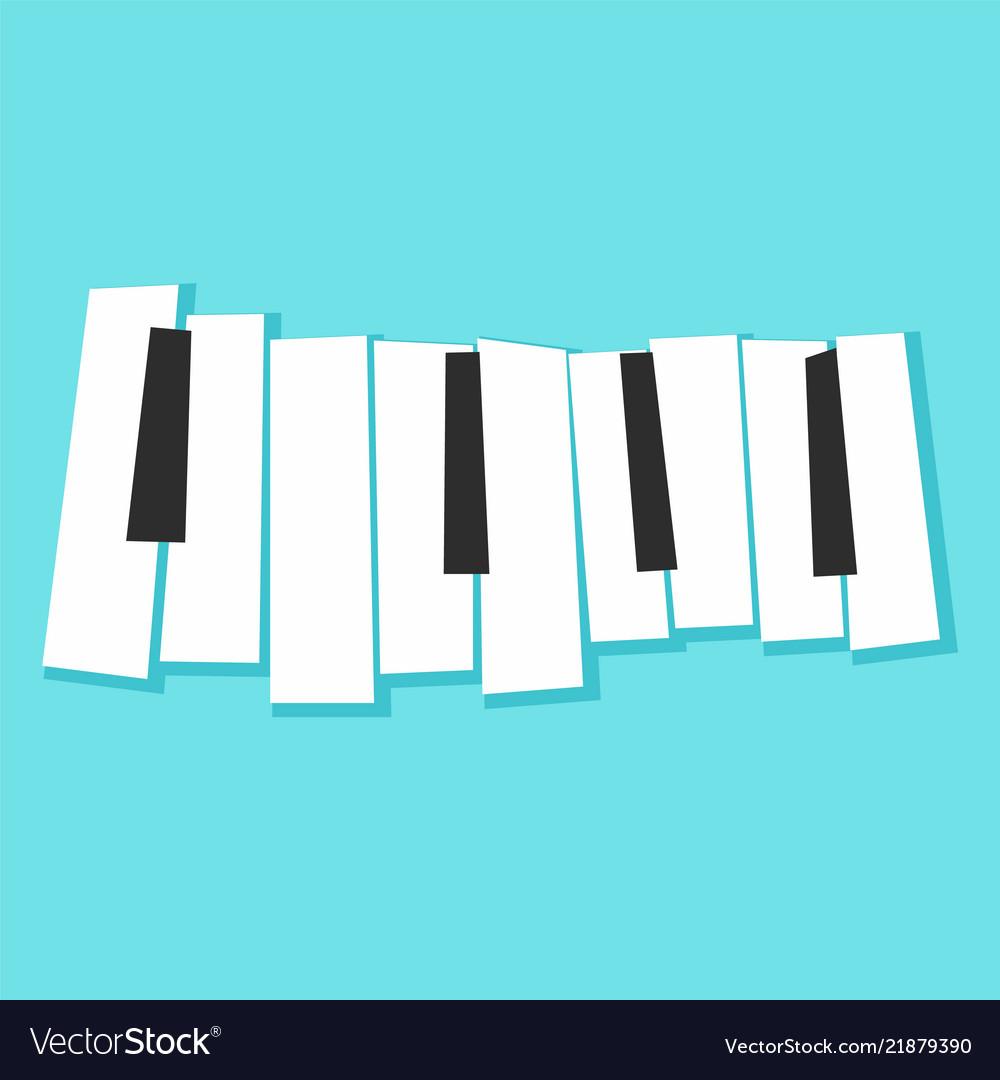 Piano keys icon flat style