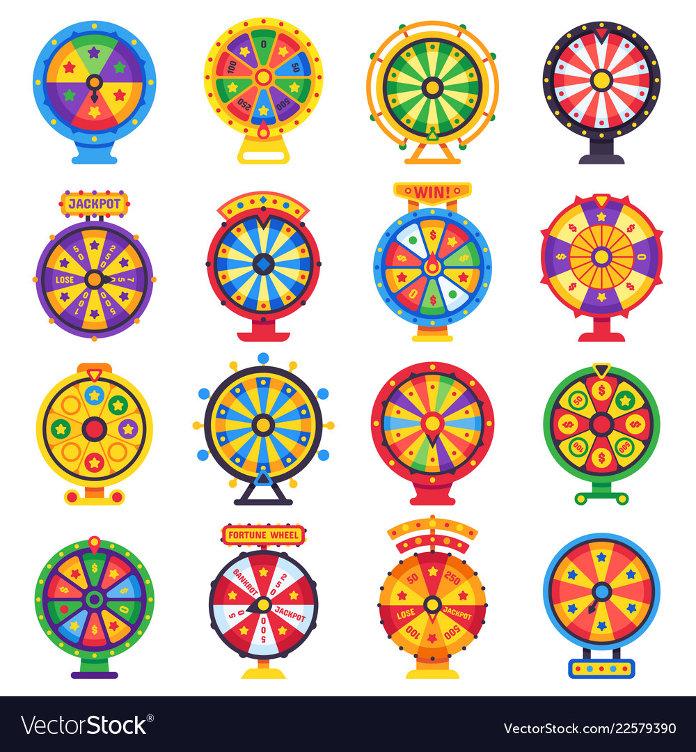 Wheel of fortune turning lucky spin game wheels