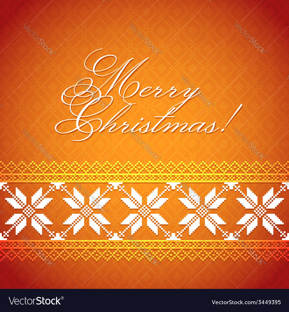 Christmas Background with traditional norwegian Vector Image