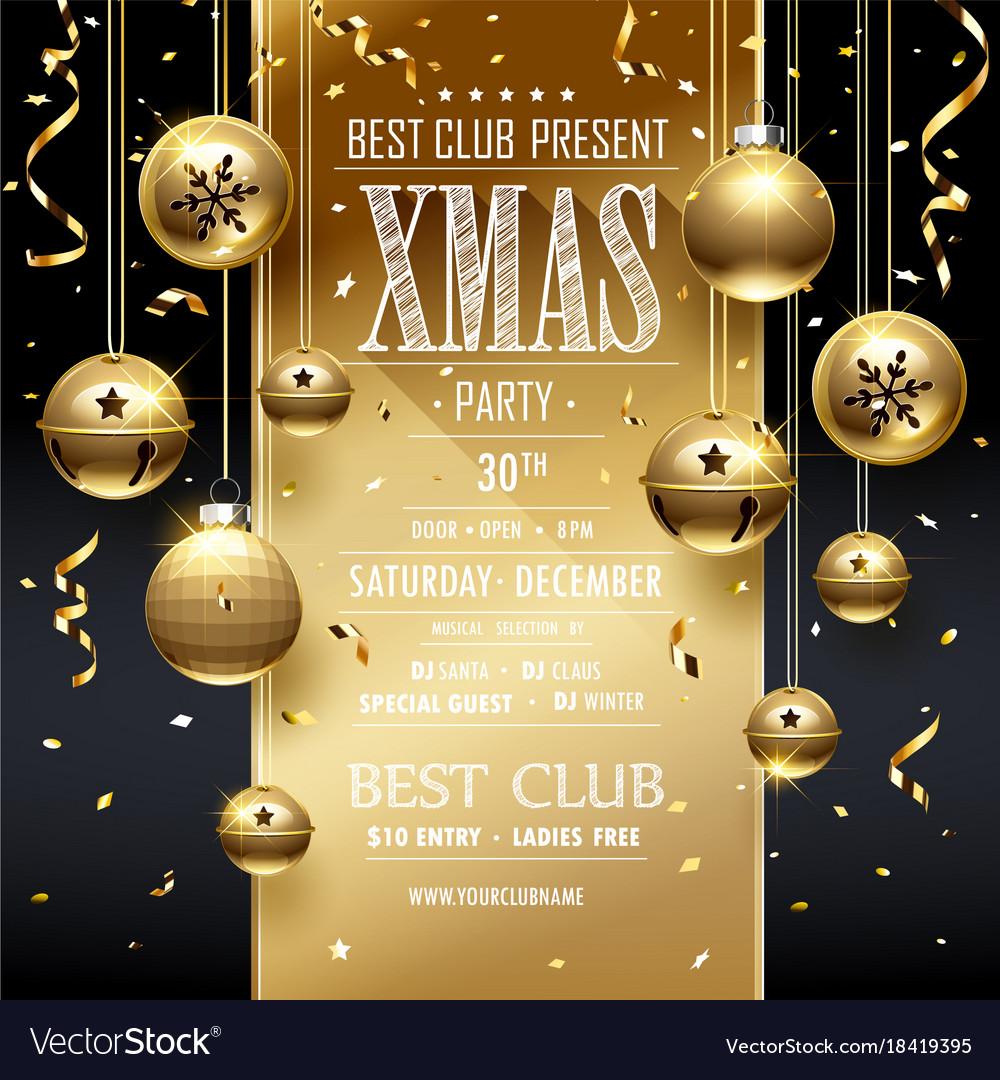 Christmas party design golden