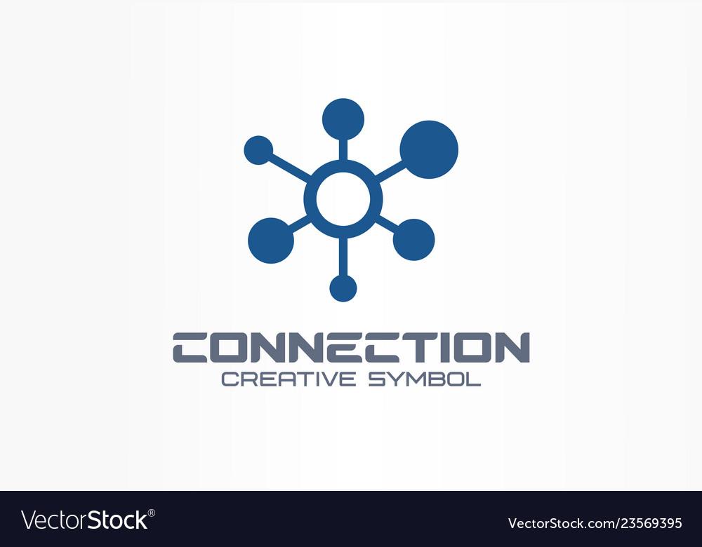 Connect creative symbol concept social media