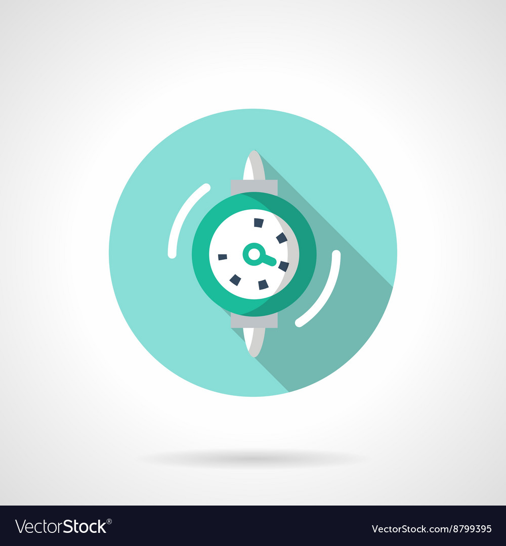 Gauge flat color design icon vector image