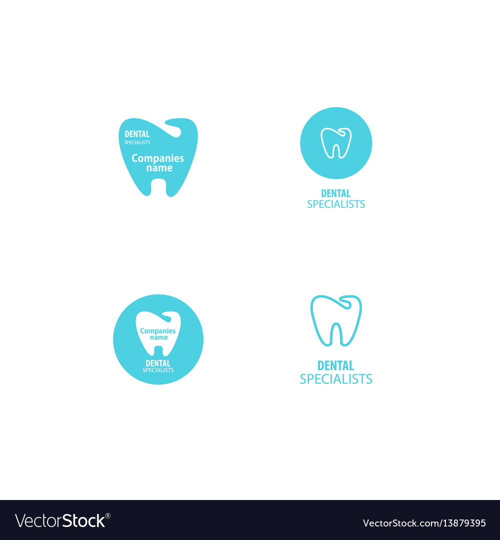 Set Of Dental Clinic Logo Tooth Icon Royalty Free Vector