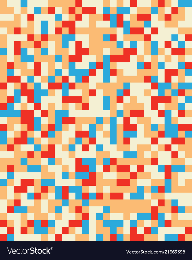 Square geometric abstract seamless pattern