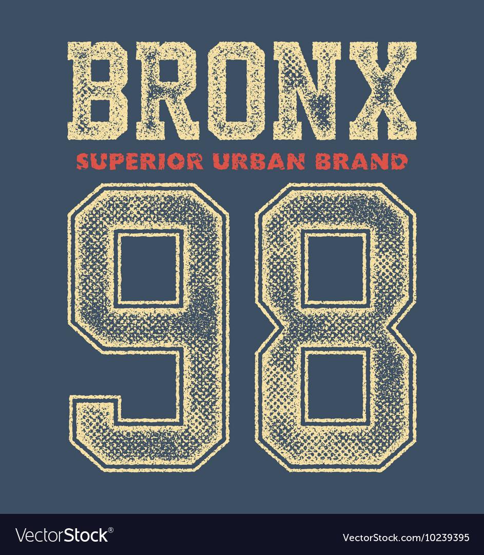 Vintage bronx typography