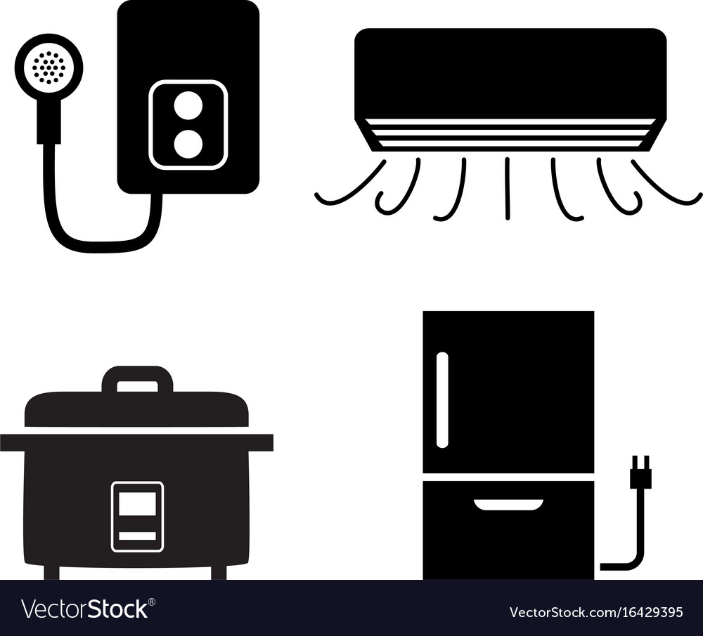 Water heater air conditioner rice cooker icons