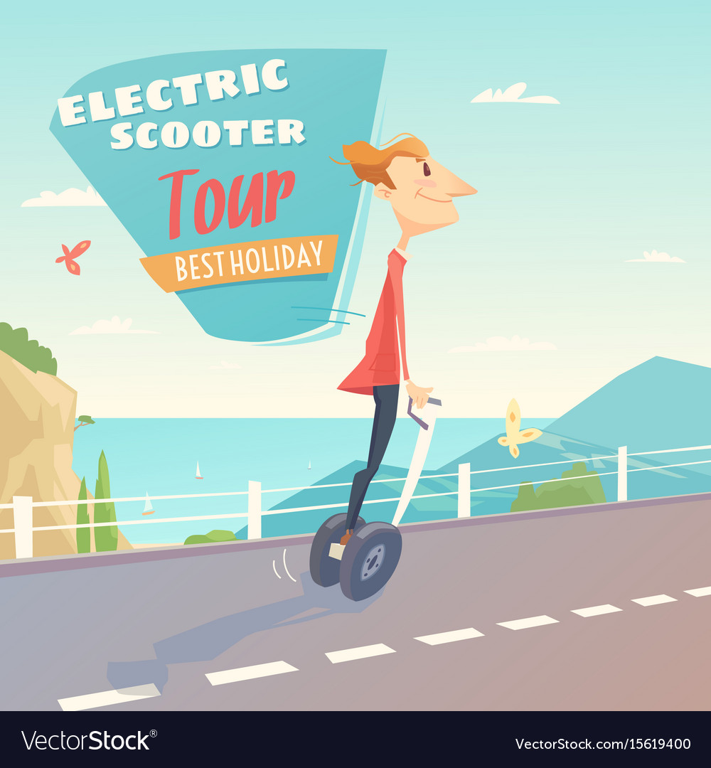 Banner for self-balancing electric scooter