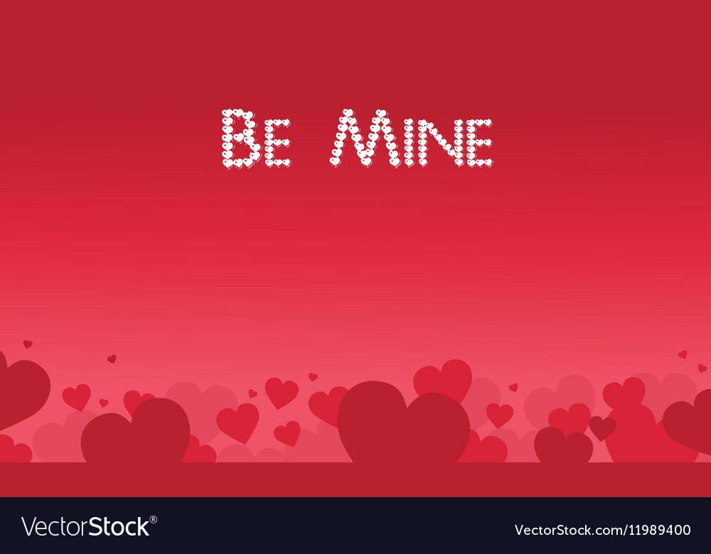 Be Mine valentine theme art