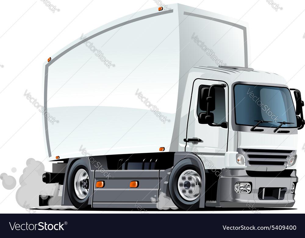 Cartoon delivery or cargo truck vector image