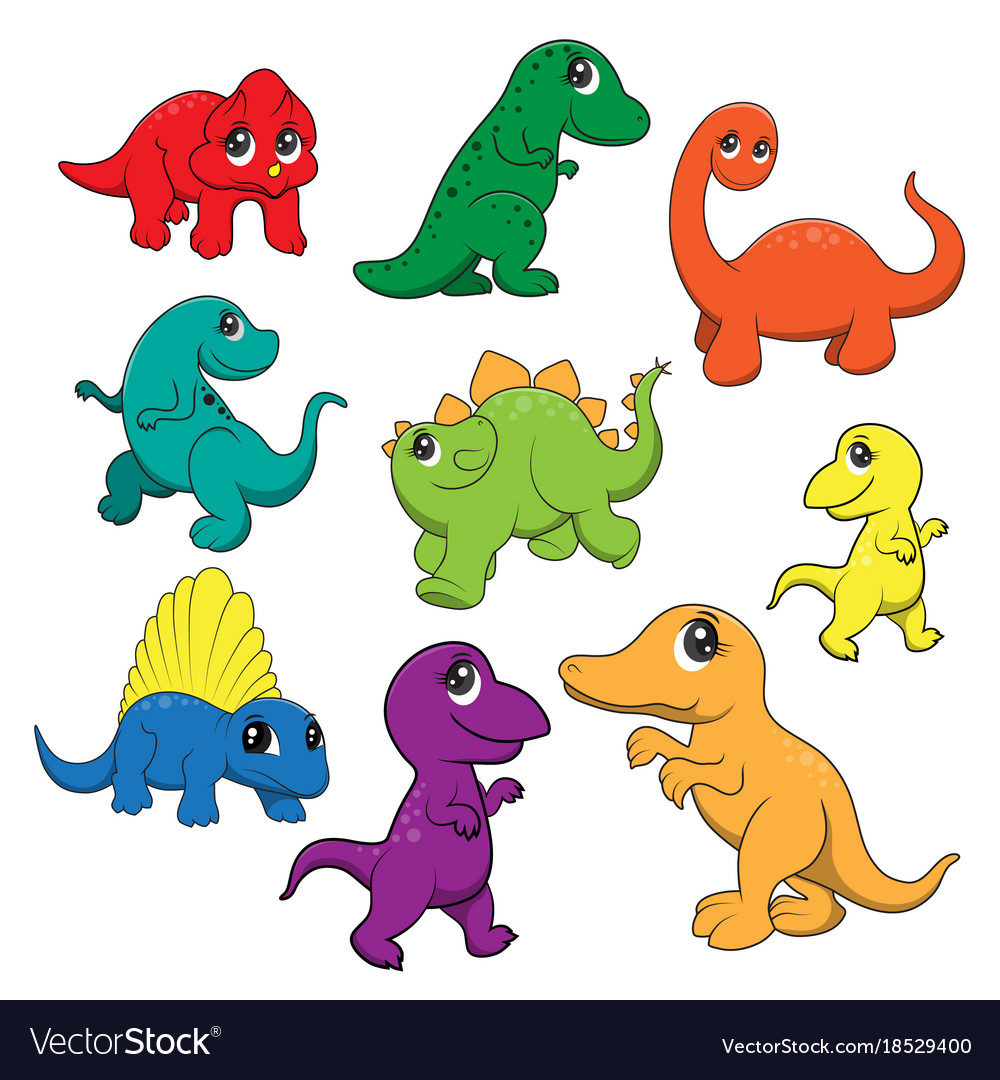 Image of: Clipart Cute Dinosaurs Cartoon Vector Image Vectorstock Cute Dinosaurs Cartoon Royalty Free Vector Image