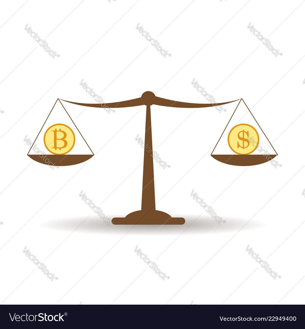 Dollar and bitcoin balance